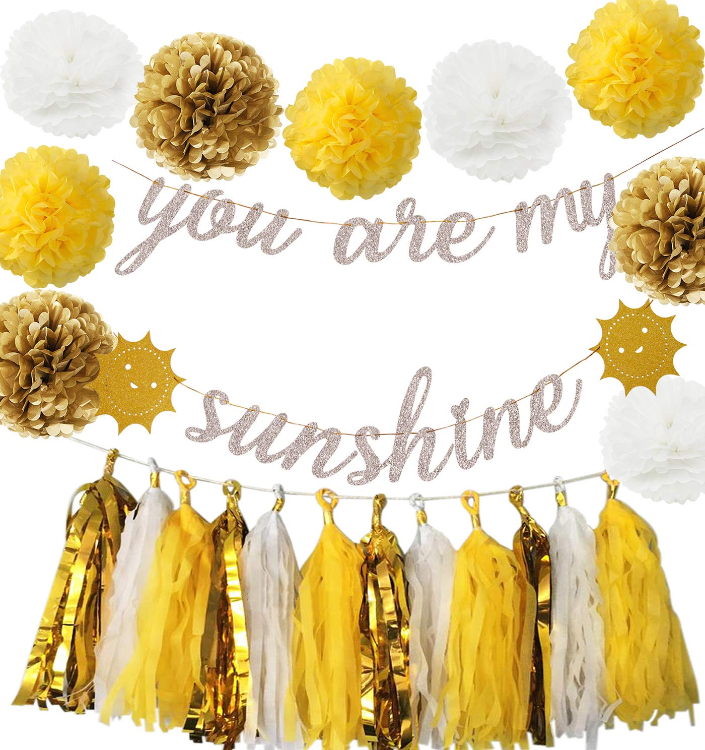 You Are My Sunshine Party Decorations Yellow Birthday Party Decor You Are My Sunshine Banner You Are My Sunshine Birthday, Mother's Day Decoration, Birthday Banner, Nursery Decor, Baby Shower