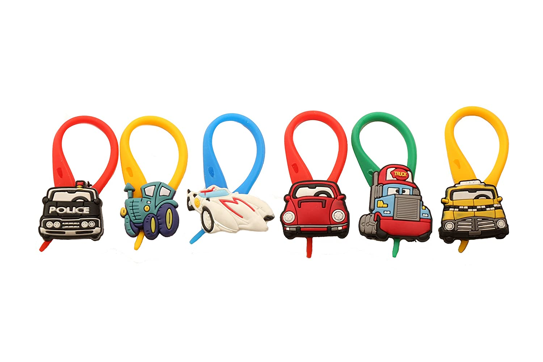 APSILON Multicolor Rubber String Zipper Pulls - Cars # 1