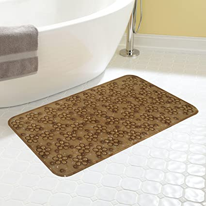 Kuber Industries PVC Bathroom Mat - 28x14, Brown