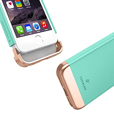 Amazon.com: iPhone SE Case, iPhone 5S Case, iPhone 5 Case, Caseology [Savoy Series] Slim Two-Piece Slider [Mint Green] [Chrome Rose Gold] for Apple iPhone ...