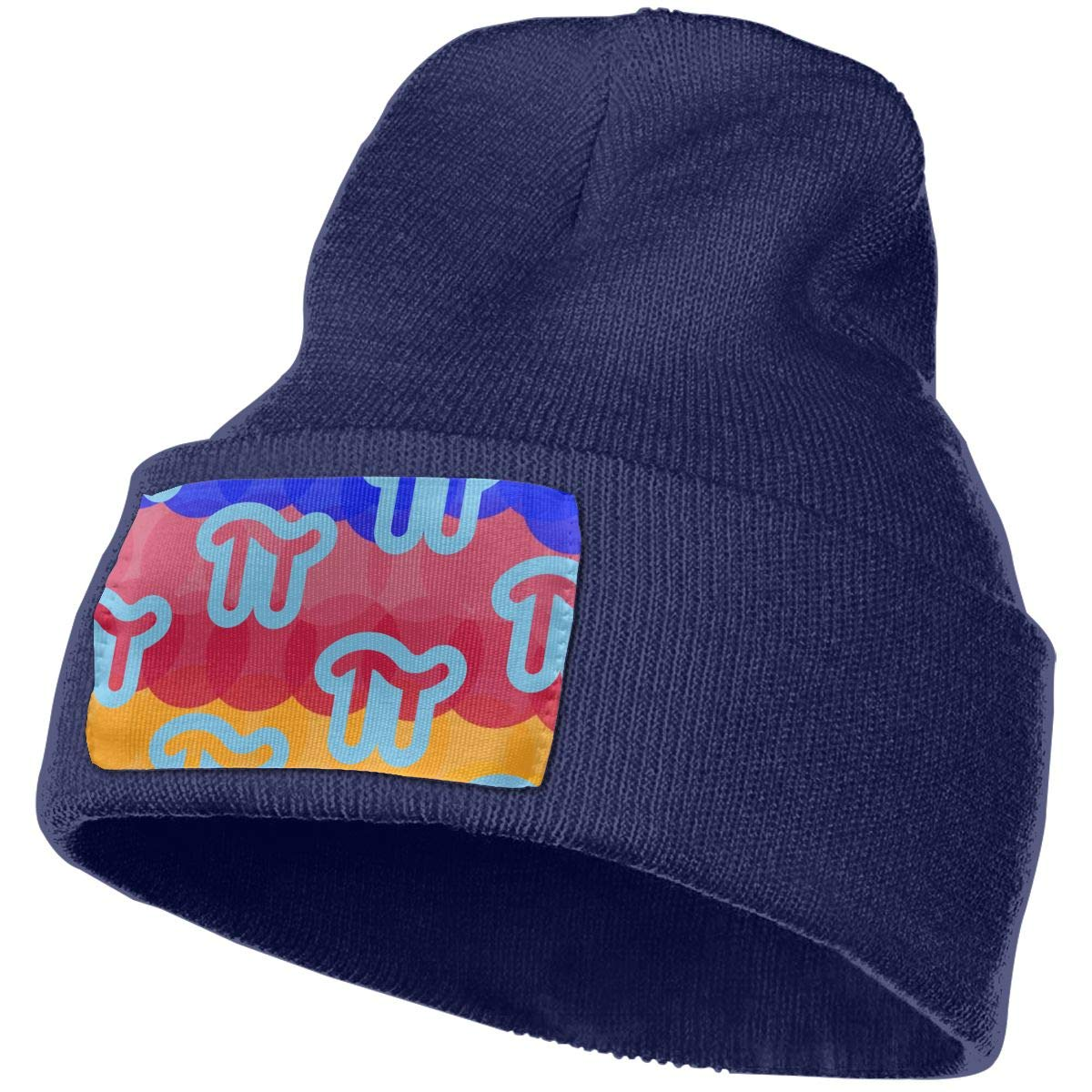 PI Rainbow Pattern Unisex Winter Knitting Woolen Hat Warm Cap