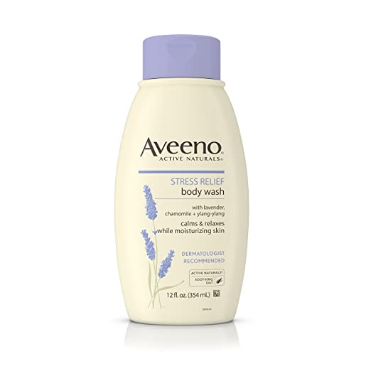 Aveeno Stress Relief Body Wash With Lavender, Chamomile And Ylang-Ylang Oils, 12 Fl. Oz. (Pack of 3)