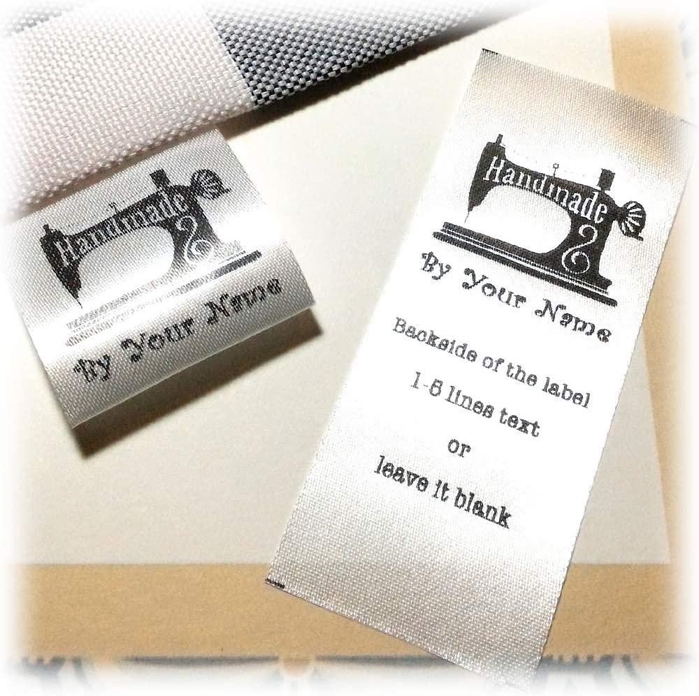 1000 PCS WHITE WOVEN CLOTHING SEWING FOLDED CARE LABEL TAGS ONE SIZE FITS ALL