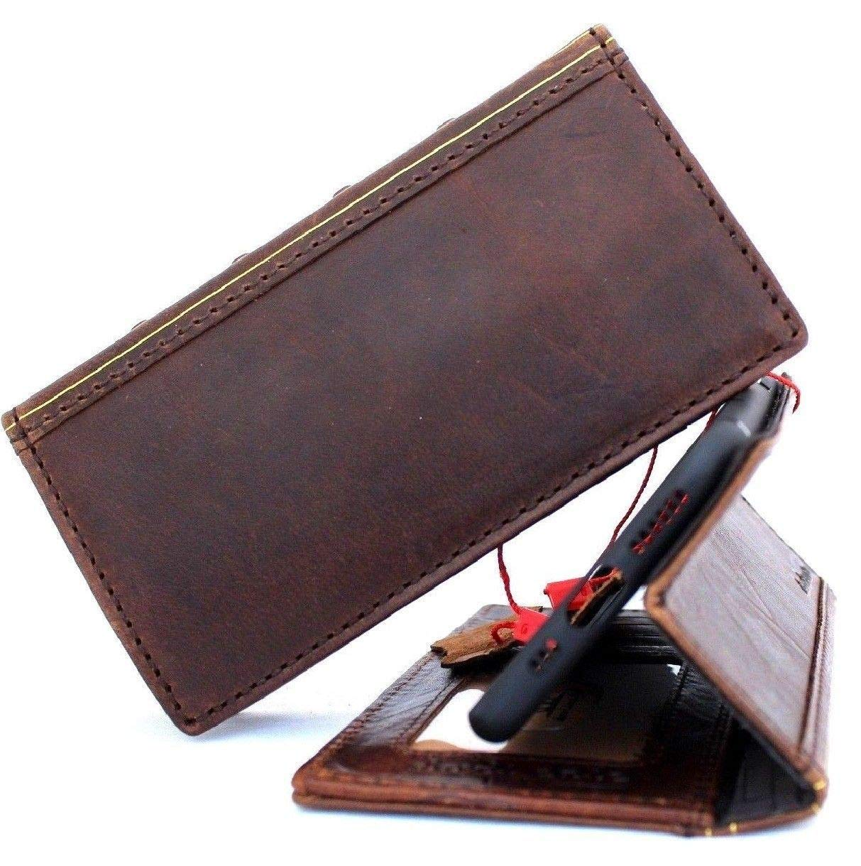 Genuine Leather Case for iPhone xr Book Bible Wallet Handmade Cover Luxury Cards Slots Rubber Holder Vintage DavisCase xr
