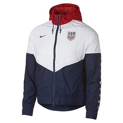 Amazon Com Nike Womens U S A Windbreaker Jacket White Navy Red
