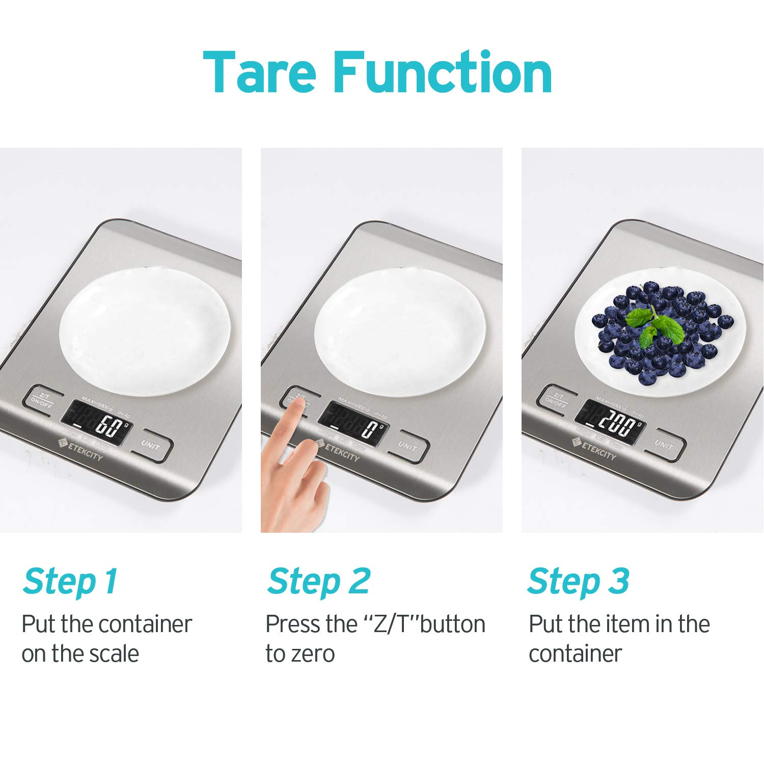 Etekcity Food Kitchen Digital Scale Grams And Ounces