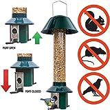 Squirrel proof Bird Feeders - 1 x Mixed Seed Bird Feeder & 1 x Peanut/Suet Pellet Bird Feeder - 100% Pest Proof - Roamwild