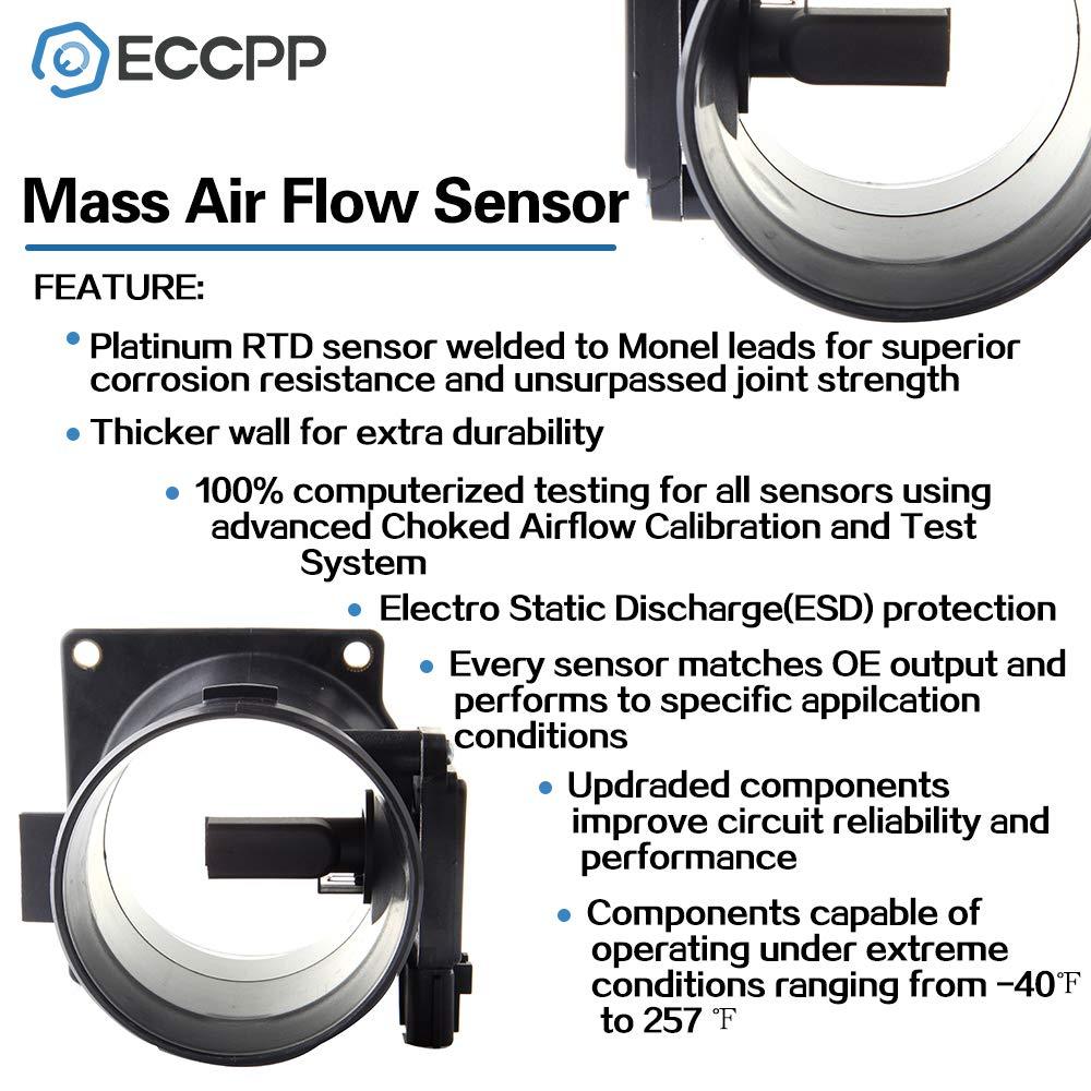 Mass Air Flow Sensor Meter ECCPP MAF for Ford Crown Victoria E-150 E-250 E-350 E-450 Excursion Explorer F-250 F-350 F-450 F-550 F53 Grand Marquis Mustang 2003 2004