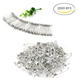 Koogel 2000 Pcs Safe Pins Sweing Pins For Quilting and Knitting,Silvery White ,19mm