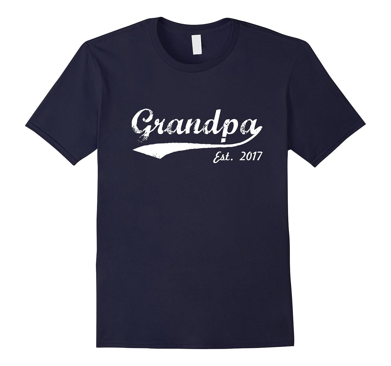 Men's New Grandpa T-Shirt - Grandpa Est. 2017 - Grandpa To Be T-Sh-T-Shirt