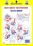 Aunt Martha's State Birds Iron On Transfer Pattern Collection, All 50 States