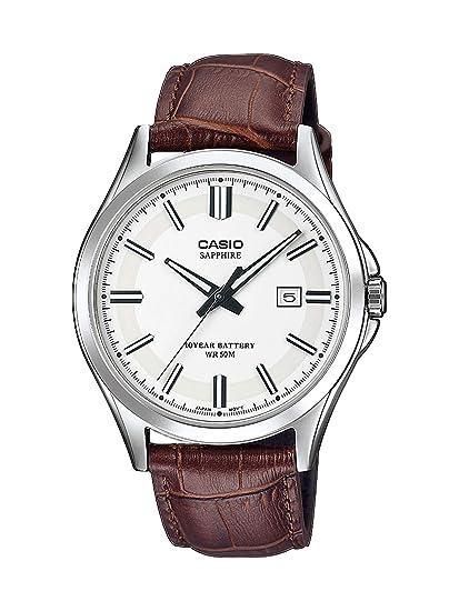 b5af936cca69 CASIO Reloj Analógico para Hombre de Cuarzo con Correa en Cuero MTS-100L-7AVEF   Amazon.es  Relojes