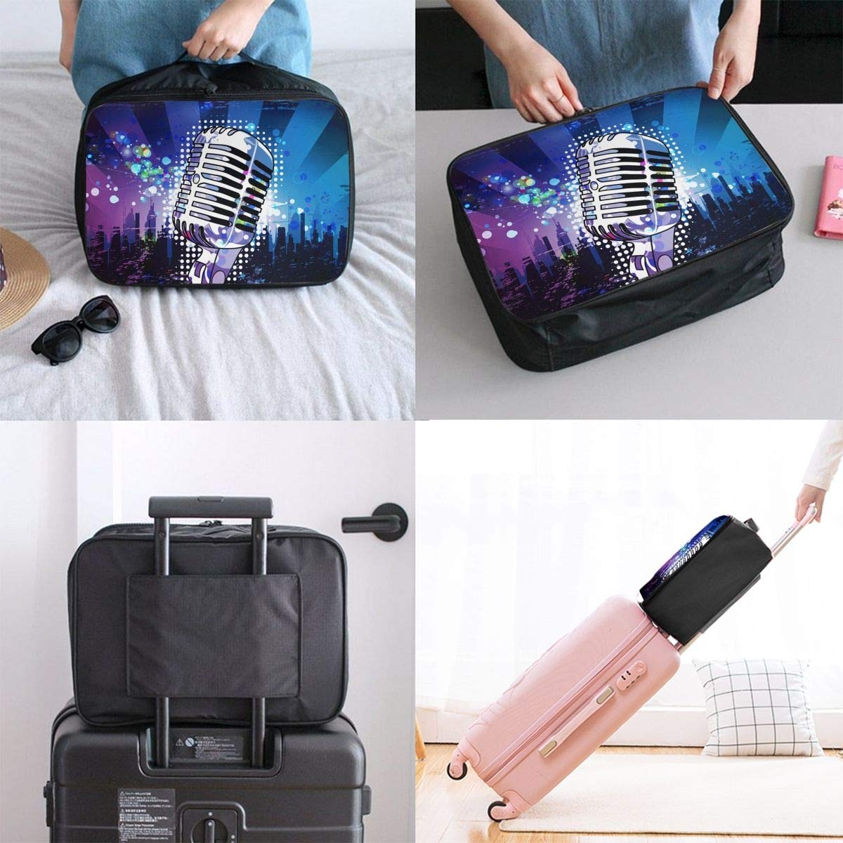 Travel Luggage Duffle Bag Lightweight Portable Handbag Microphone Large Capacity Waterproof Foldable Storage Tote