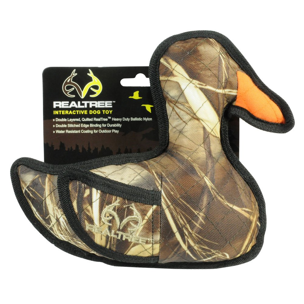 Hyper Pet Realtree Duck   Durable Quilted Fabric Toy for Dogs   Floats
