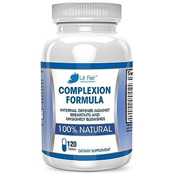 Pastillas para el acné con ácido pantoténico y vitamina B5 - Fórmula para el cutis Lé Fair ...