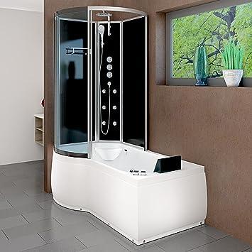 AcquaVapore DTP8050-A006R Whirlpool Wanne Duschtempel Dusche Duschkabine 98x170