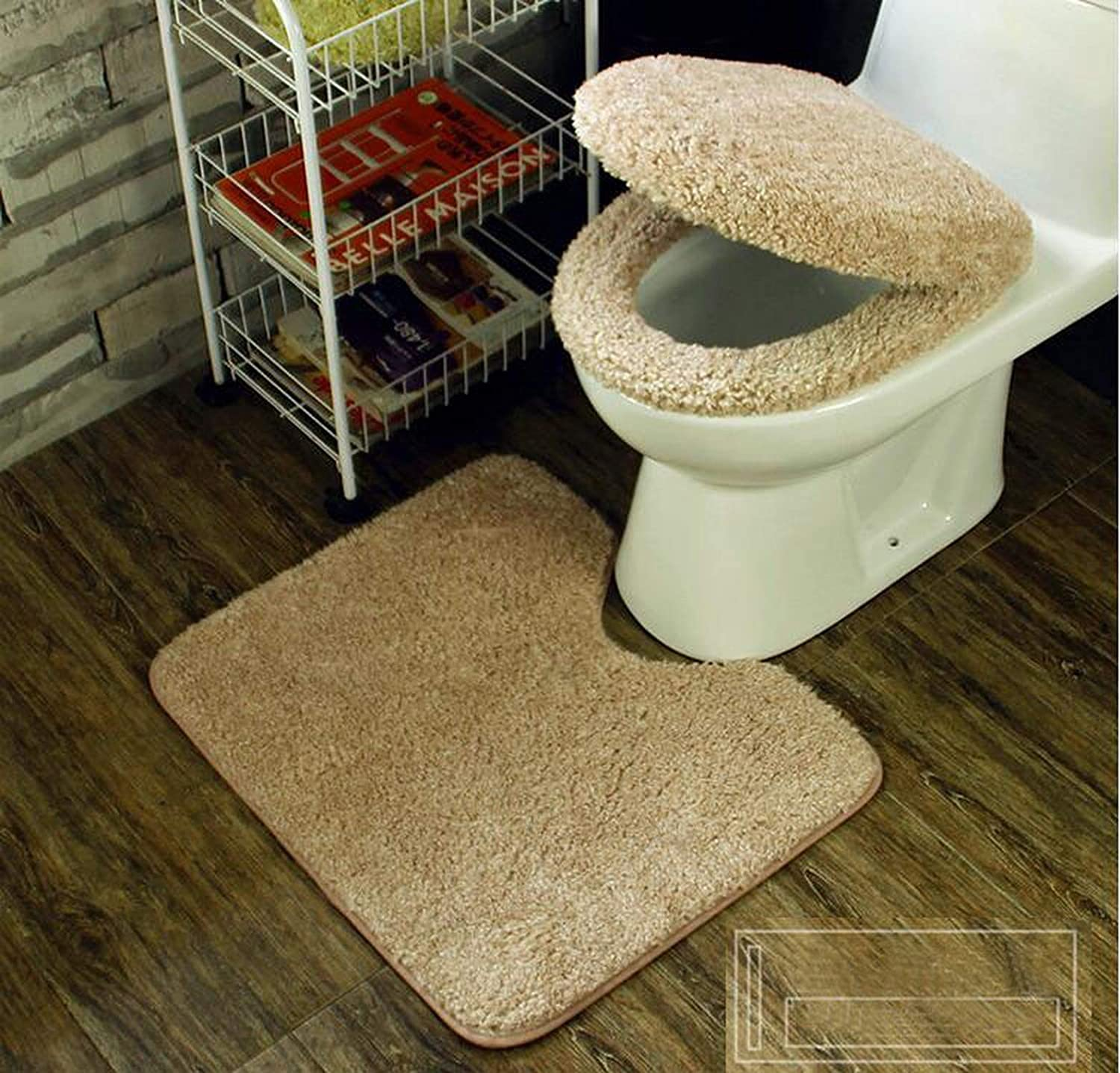 3pcs Super Soft Thickening Toilet Potty Sets Toilet seat Cover Warm Close Stool Cushion Mat,Pink