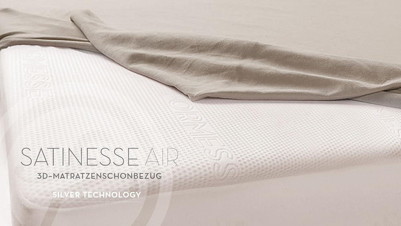 Matratzenschoner Satinesse Air SILVER Alto 100x200cm wollweiss