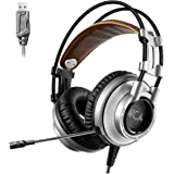 XIBERIA Gaming Headset USB Surround Sound Gaming Headphones Over-ear PC Headset