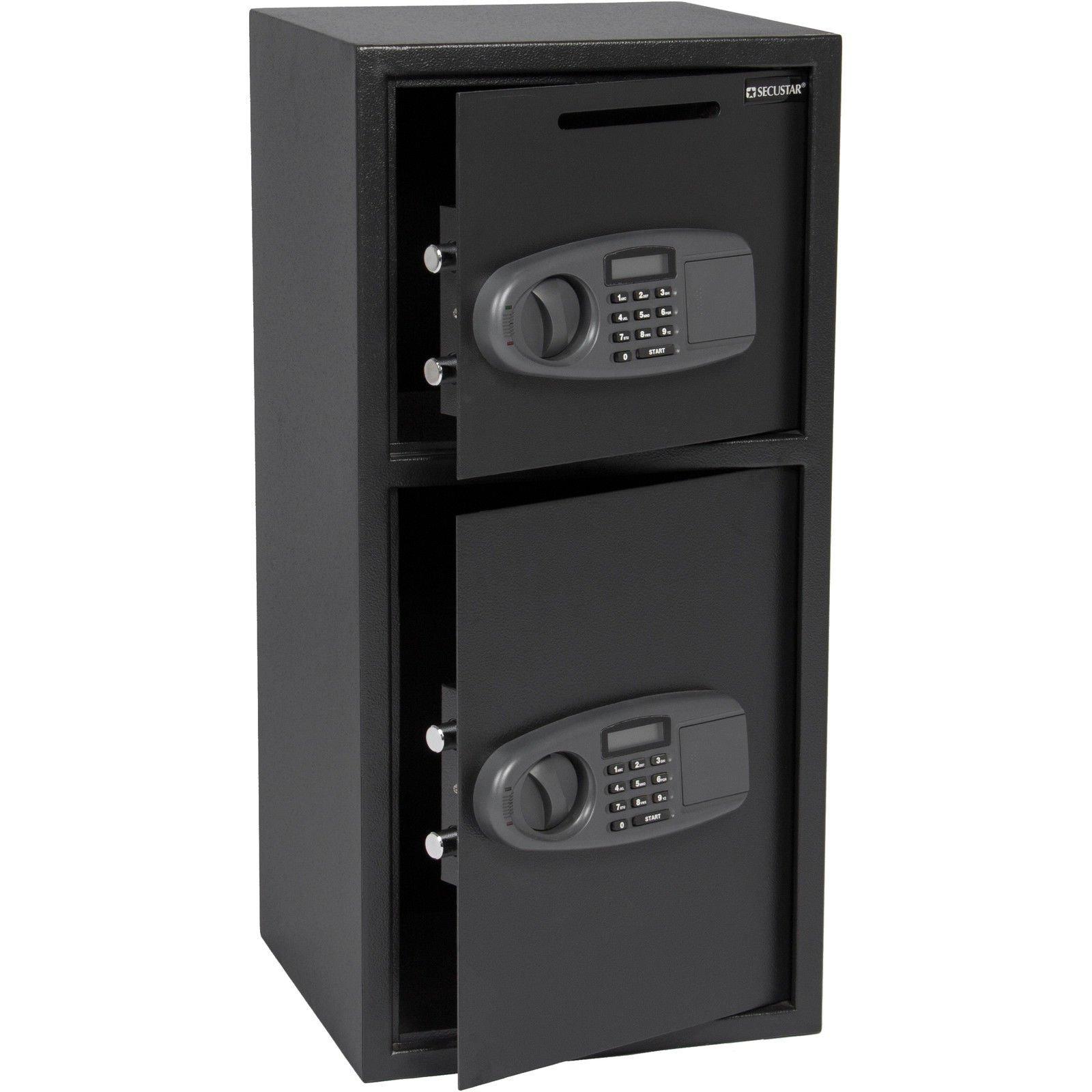 Eight24hours Large Double Door Digital Deposit Safe Cash Jewelry Gun Drop Security Lock Box