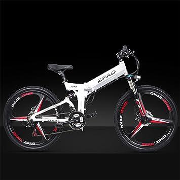 KB26 Bicicleta plegable de 21 velocidades, batería de litio de 48V 10.4Ah, bicicleta