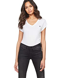 big sale d14fb 09a92 G-STAR RAW Damen T-Shirt Eyben Slim V T Wmn S/S: Amazon.de ...