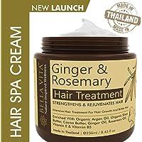 Bella Vita Organic Hair Spa Cream Mask With Argan, Ginger & Rosemary For Frizzy Hair, Volume & Growth, 250 ml