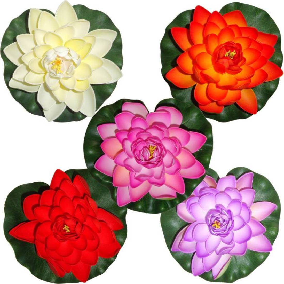 Buy Lotus 6 Pc S Mixed Artificial Floating Flower In Tank Pool