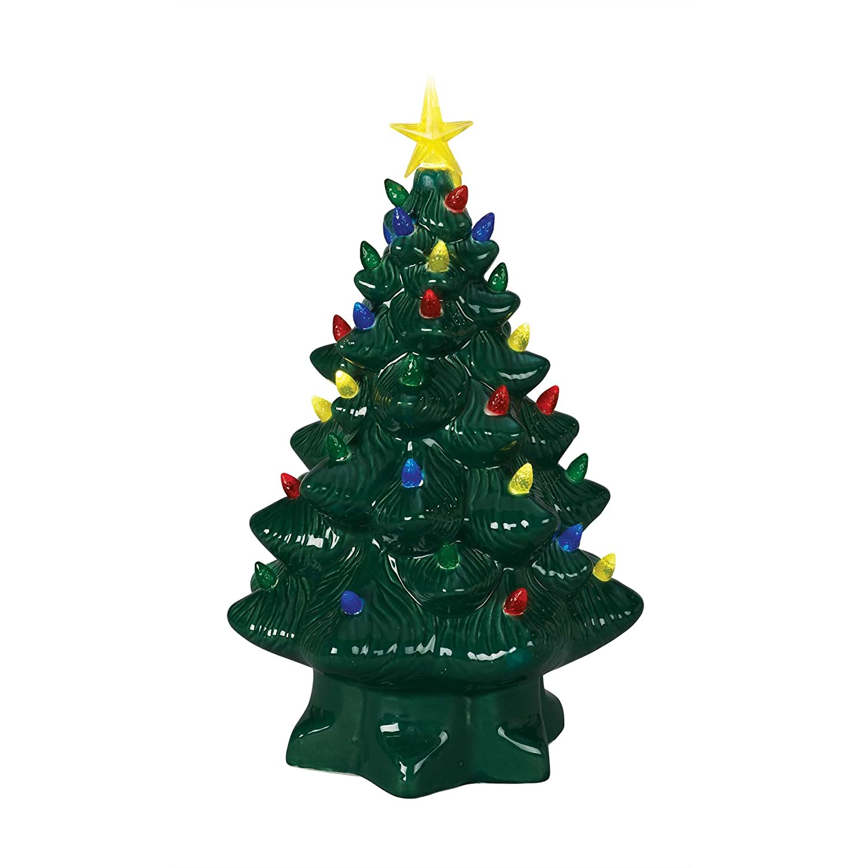 Amazon.com: Mr. Christmas 14 Inch Nostalgic Christmas Tree - Green ...