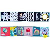 Taf Toys Koala Clip on Pram Baby Book | Baby's First double sided Book with contrast colors, 3D activities & textures…