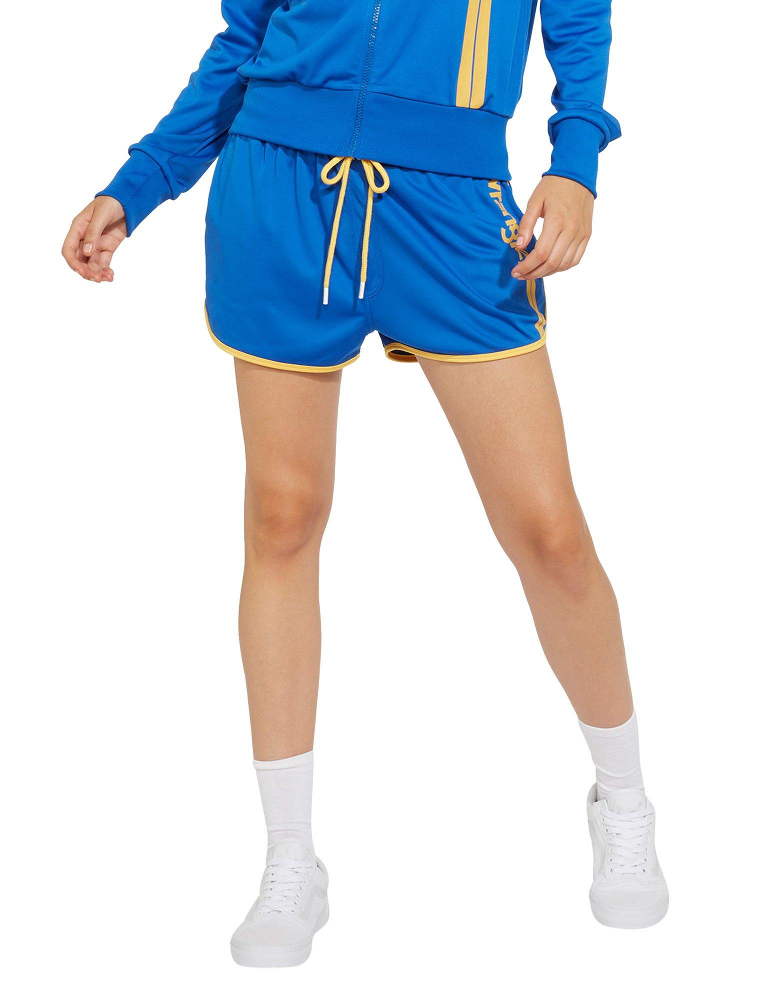 Wrangler Women's B&Y Women's Blue Shorts In Size S Blue