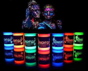 Amazon.com   UV Neon Face   Body Paint Glow Kit (7 Bottles .75 oz ... 489e5a6955
