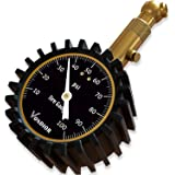Tire Pressure Gauge - (0-100 PSI) Heavy Duty, Certified ANSI Accurate with Large 2 Inch Easy to Read Glow Dial, Low…