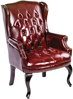 boss office products b809by wingback traditional guest chair in burgundy