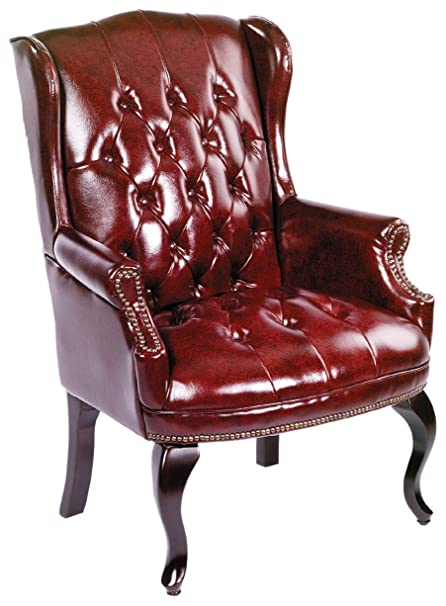 Stupendous Boss Office Products Wingback Traditional Guest Chair In Burgundy Pdpeps Interior Chair Design Pdpepsorg