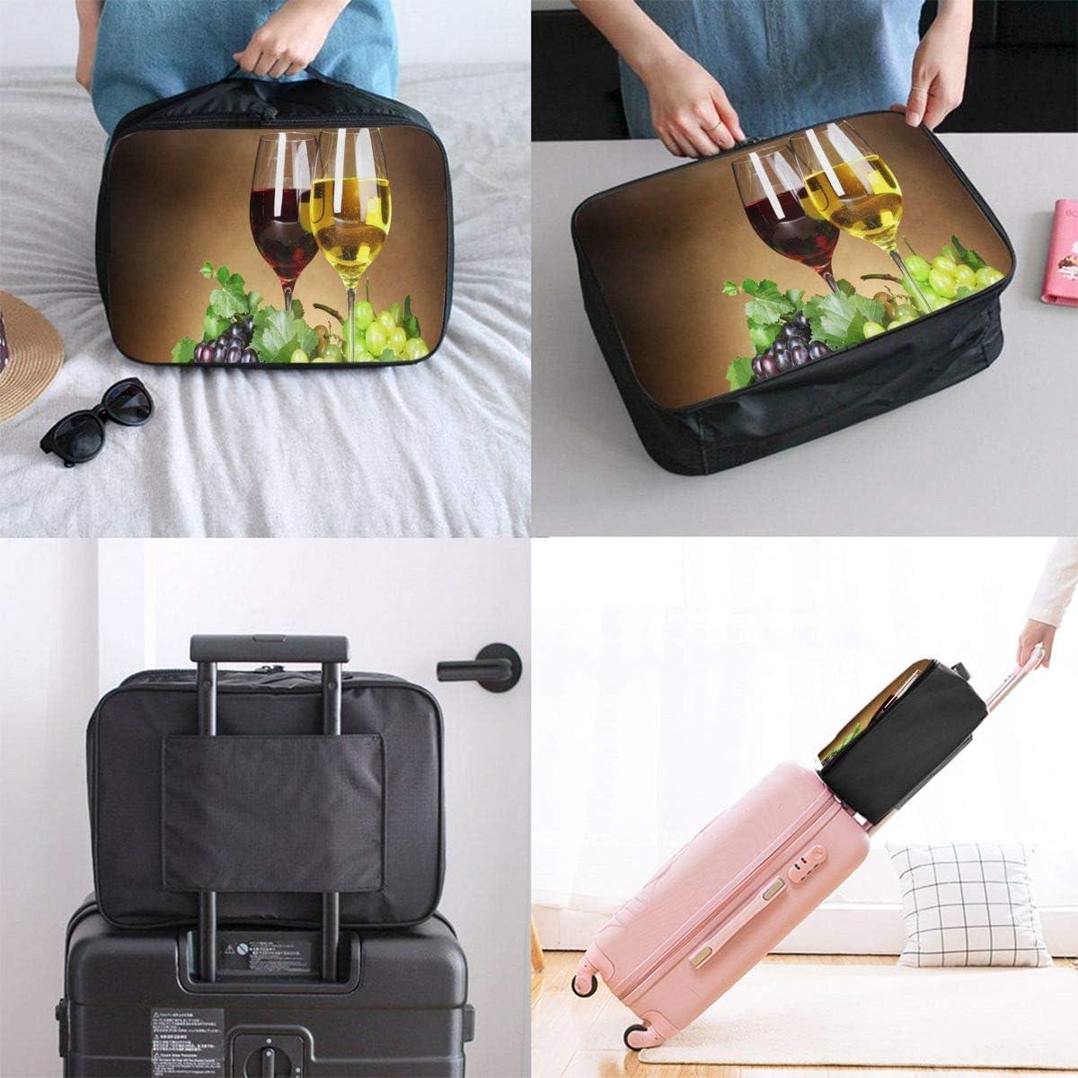 Wines Travel Carry-on Luggage Weekender Bag Overnight Tote Flight Duffel In Trolley Handle
