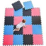 DrNanhai Esterilla Puzzle de Fitness-18 losas de EVA Espuma Alfombrilla Protectora Protección para el Suelo para…