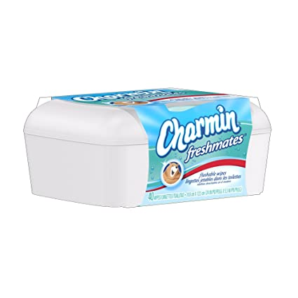 Charmin Freshmates Flushable Wipes - with Refillable Tub 40 CT (Pack of 10)