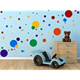 DCTOP Polka Dots Wall Decals(132 Decals) Easy to Peel&Stick Polka Dots Wall Decals