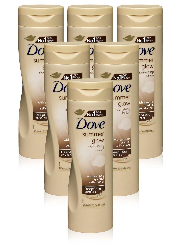 Dove Summer Glow – Crema per il corpo per la pelle da normale a scura, 6 pz, 250ml