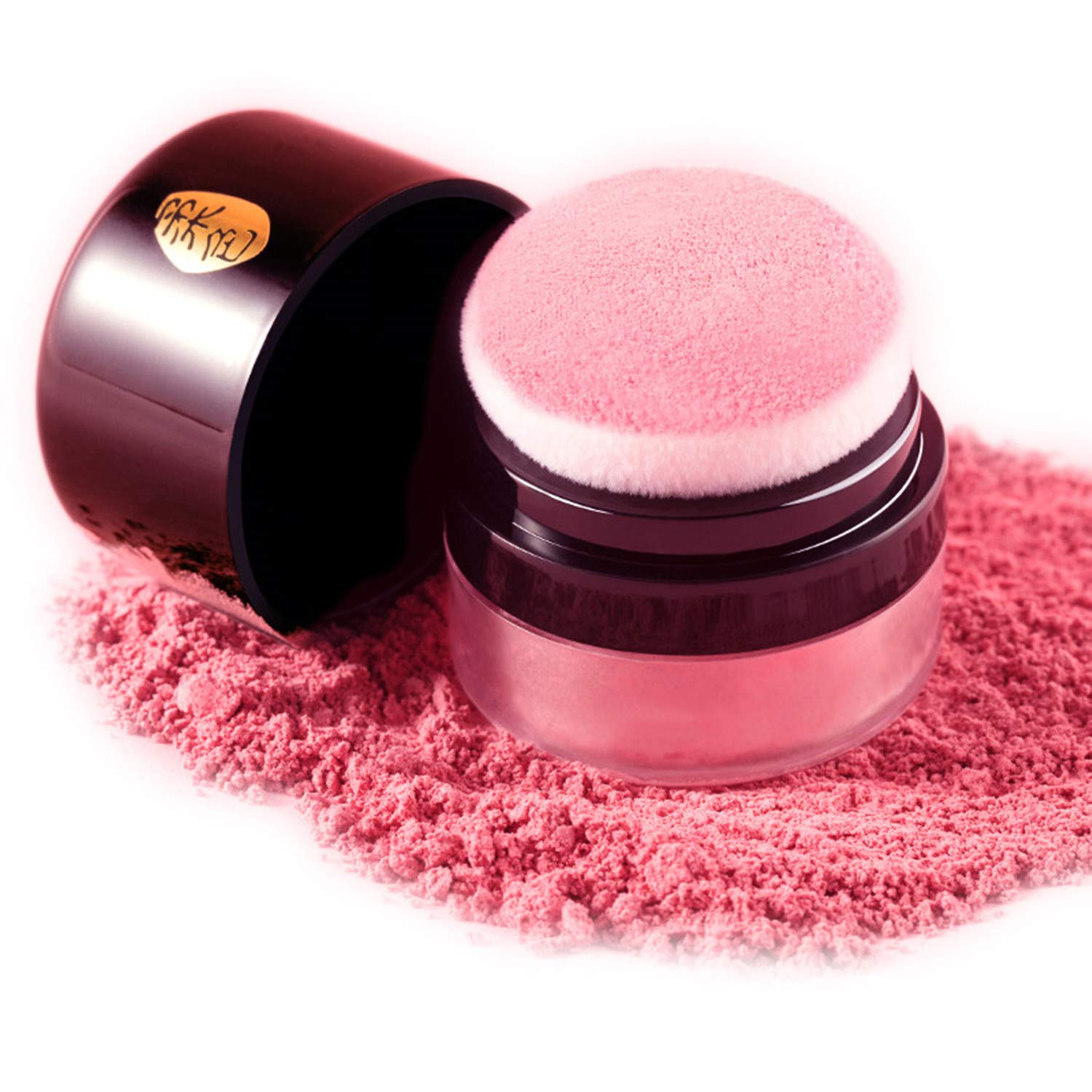 Rouse Soft Face Blusher Powder Cheek Rouge Nourishing Nude Makeup Brightening Complexion Repair (Peach color)