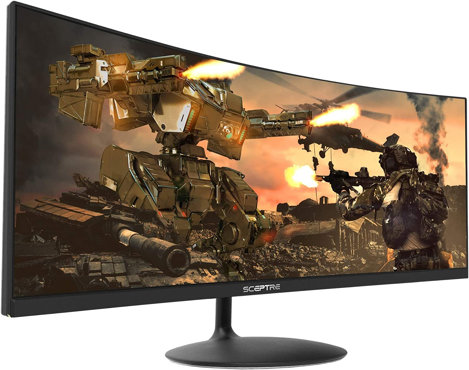 Sceptre C345W-2560UN 34″ (2560×1080) 21:9 Curved UltraWide Frameless LED Monitor