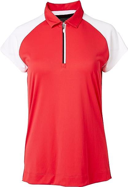 Slazenger Women s Structure Collection Racerback Mesh Cap Sleeve Golf Polo  (Melon e139e4fdd470
