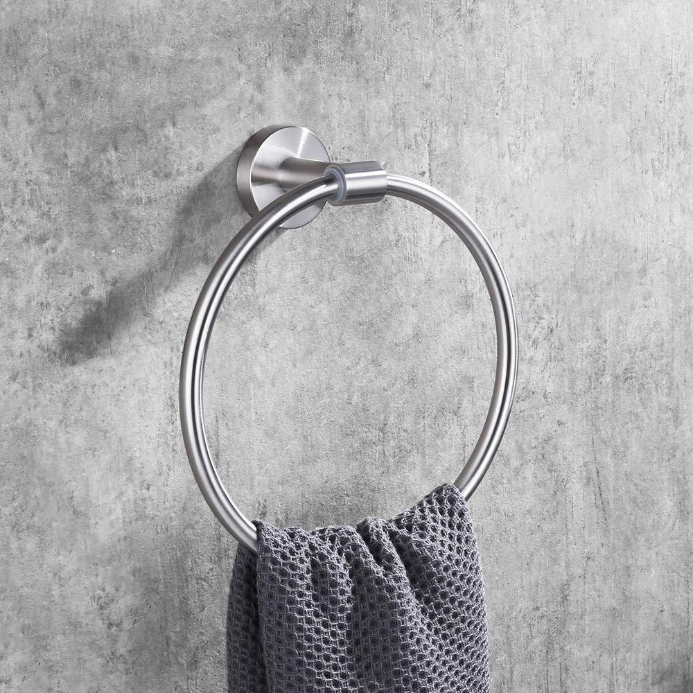 DESFAU 18-Inch Towel Bar SUS 304 Stainless Steel,Bathroom Towel Bar Storage Organizer Hanger Wall Mount,Brushed Nickel JD480809ASUBN#KL