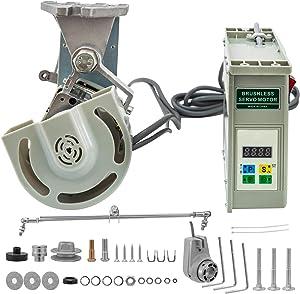 Mophorn Sewing Machine Servo Motor, 550W 110V 4500rpm Brushless Servo Motor with Needle Positioner Energy Saving