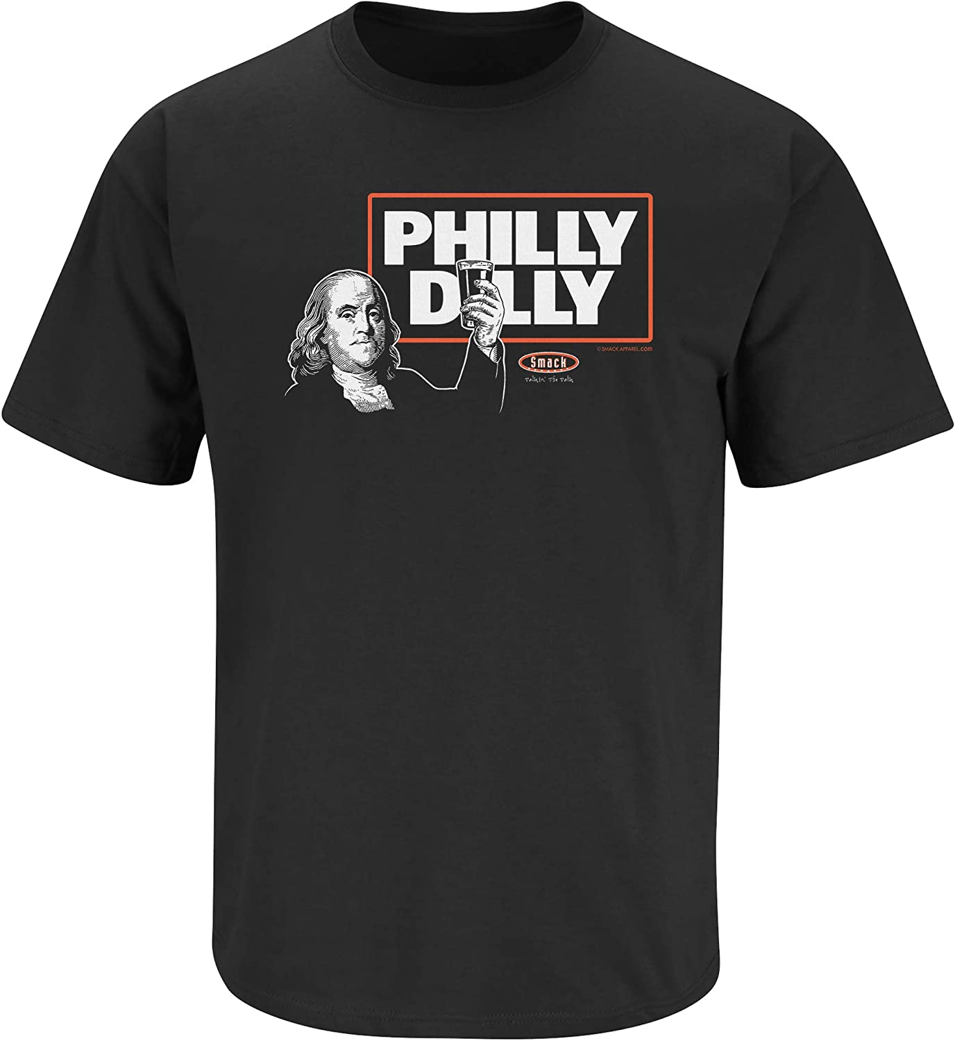 Sm-2X Philly Dilly Black Ladies T-Shirt Smack Apparel Philadelphia Football Fans