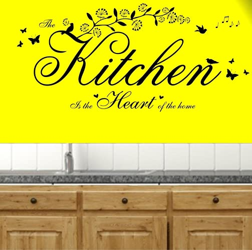 Amazon.com: The Kitchen is the Heart of the Home Quote, Vinyl Wall ...