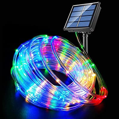 Fatpoom Solar Lights Rope Lights Solar Powered String Lights 40FT 120 LEDs 8 Modes Fairy Lights Outdoor Decoration Lighting for Garden Patio Party, Weddings, Christmas Décor Multi-Color : Garden & Outdoor