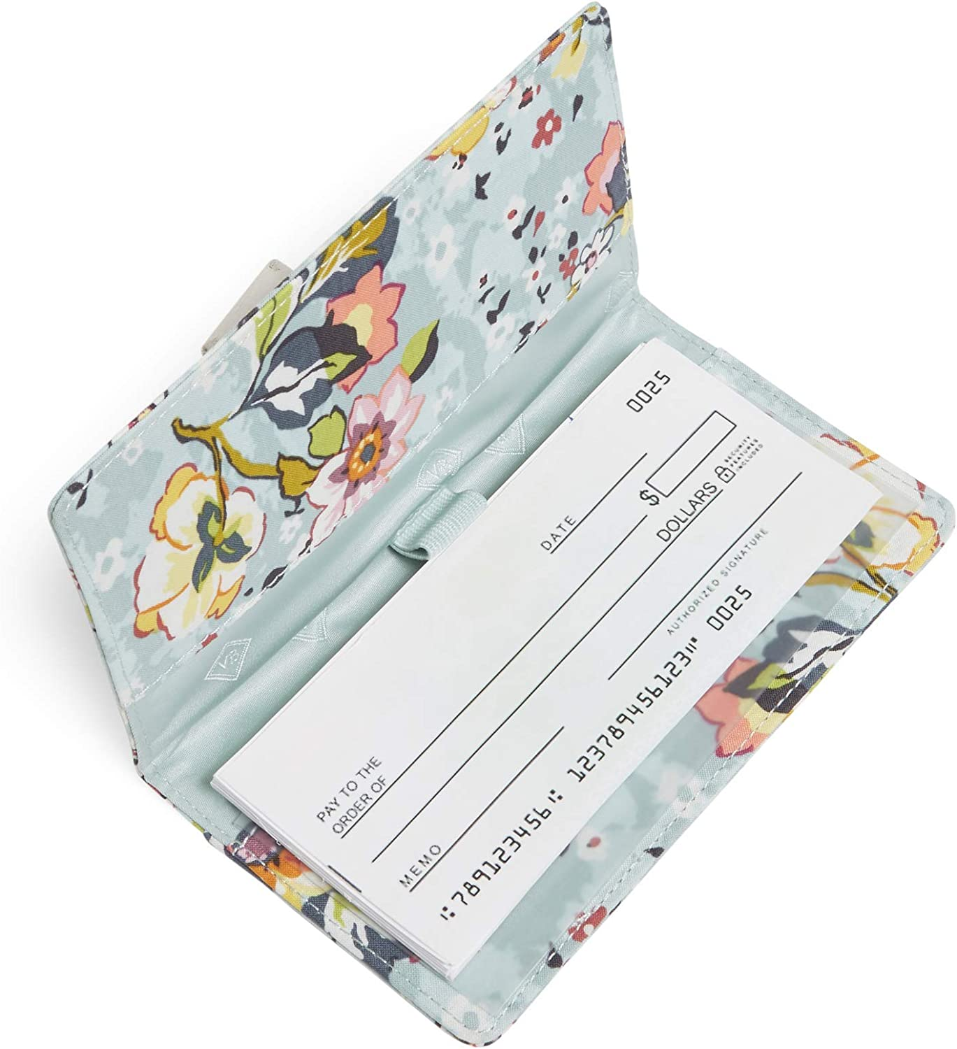 Vera Bradley Women's Signature Cotton Checkbook Cover, Floating Garden: Clothing
