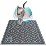 Pet Pawsabilities Non Toxic Cat Litter Mat, Traps & Keeps Cat Litter off Your Floors, Phthalate Free, Non-Slip, Waterproof, Easy to Clean, Extra Large 35''X23'', Soft on Paws.